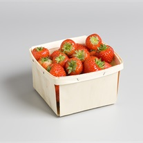 berries - wooden tray