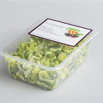 leek - plastic tray with topseal film